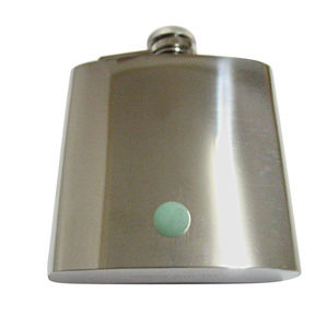 Green Aventurine Gemstone 6oz Flask